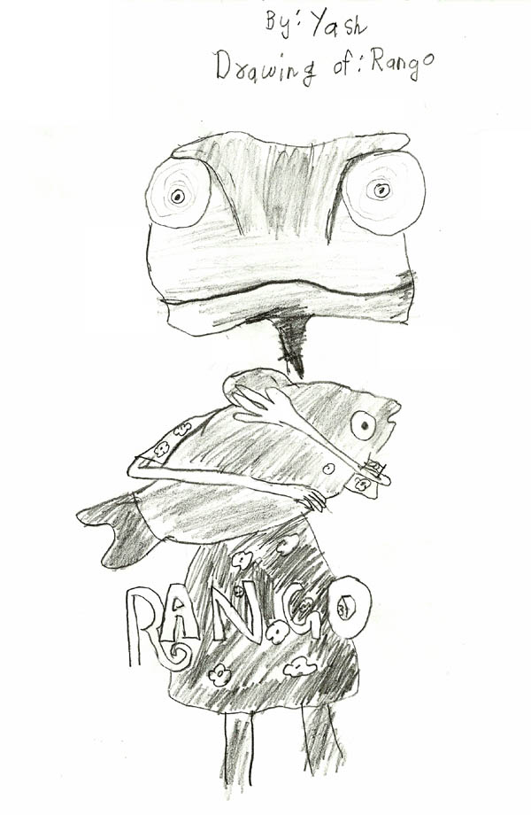 Rango Movie cartoon drawing