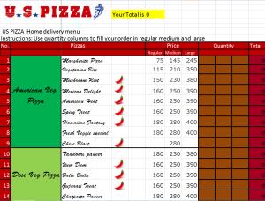 Microsoft Excel - USPizza